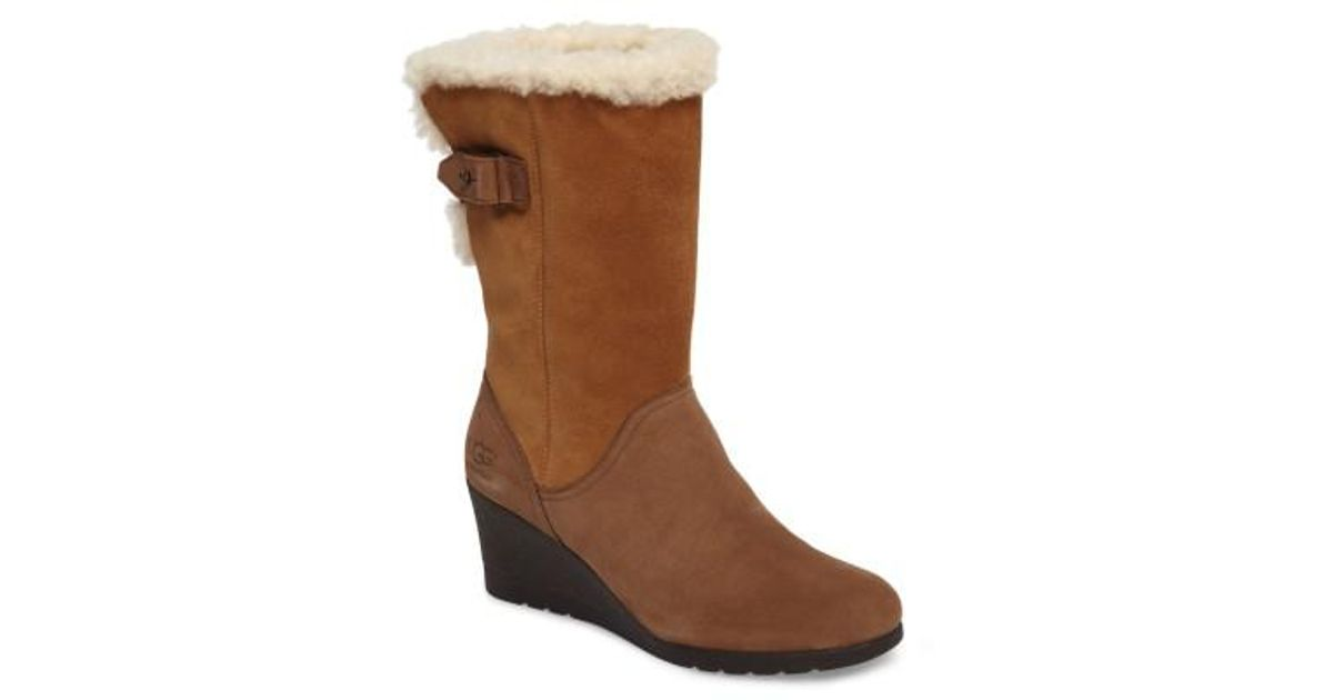 c48a9befef9 Lyst - UGG Ugg Edelina Wedge Boot in Brown