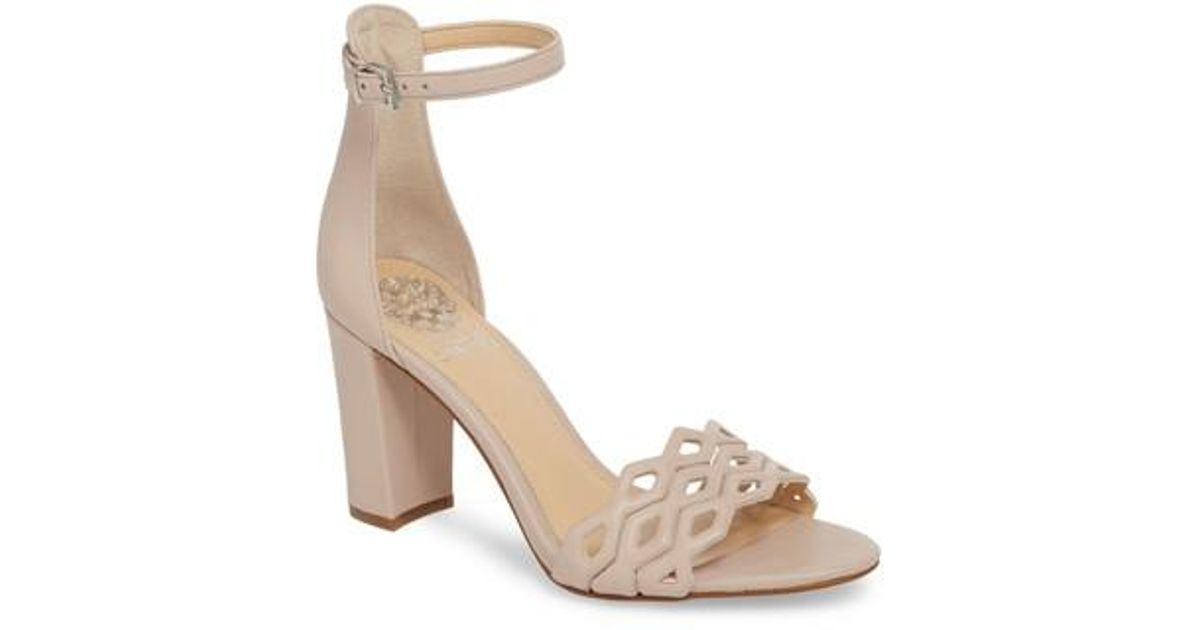 899ae67325f8 Lyst - Vince Camuto Caveena Block Heel Sandal (women) in Natural - Save 27%