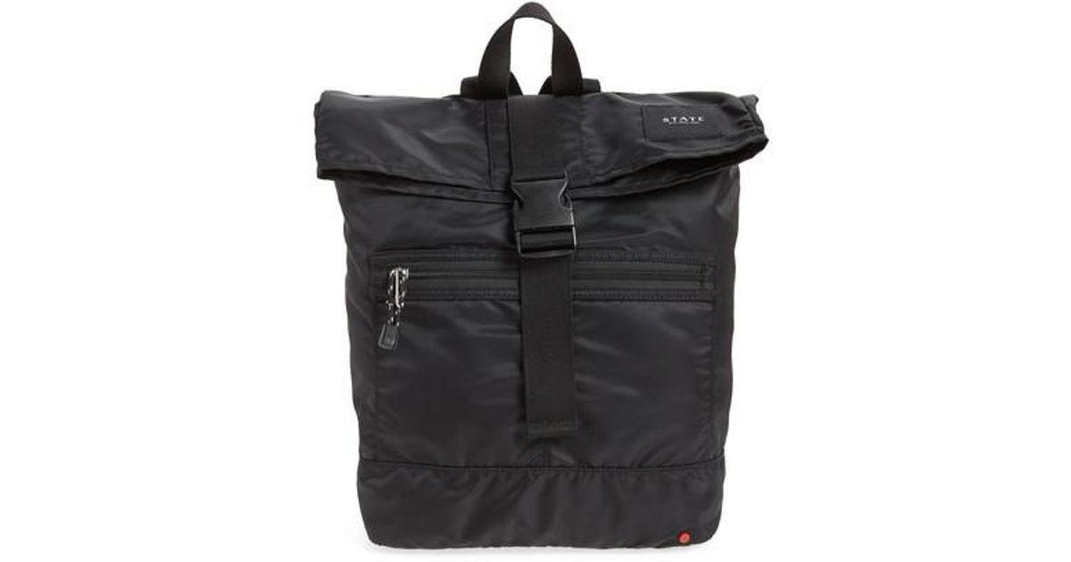 45cfa55e3ac3 Lyst - State Bags Bond Heights Nylon Backpack in Black for Men