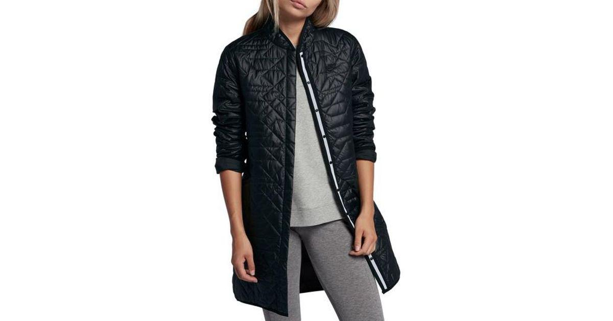 5745745edfdf Lyst - Nike Sportswear Quilted Women s Parka in Black