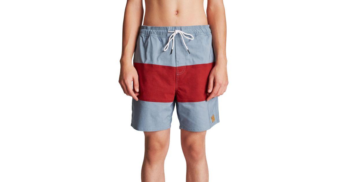 3871152eac Brixton Havana Stripe Swim Trunks for Men - Lyst