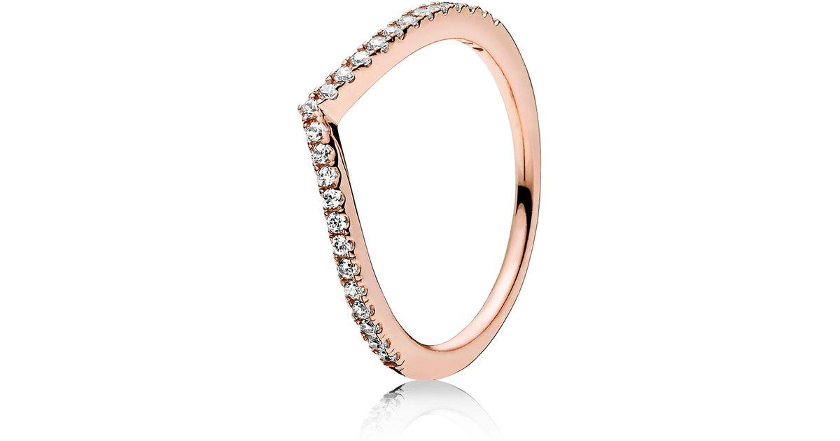 179cc7e6c Lyst - PANDORA Shimmering Wish Ring in Metallic - Save 25%