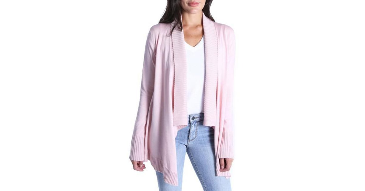 1b826a73ead26 Lyst - Kut From The Kloth Amabelle Knit Cardigan in Pink
