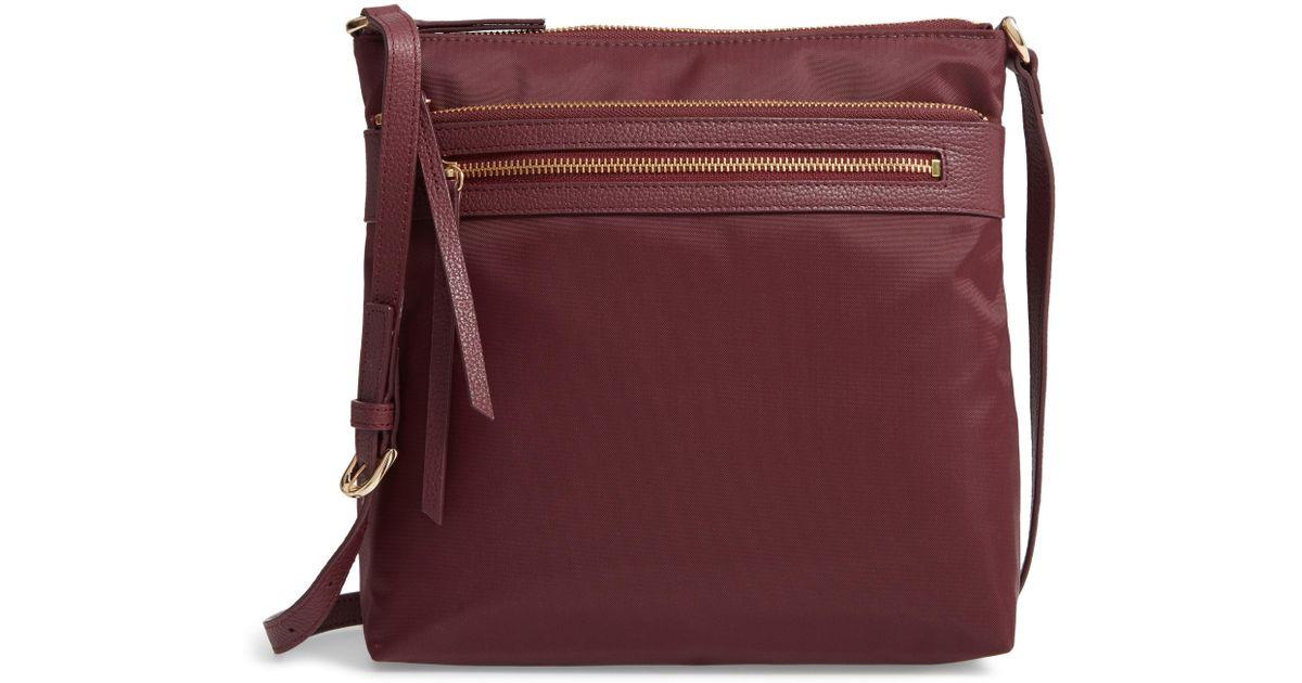 55ad1139d9bd Lyst - Nordstrom Kaison Nylon Crossbody Bag - Burgundy in Purple