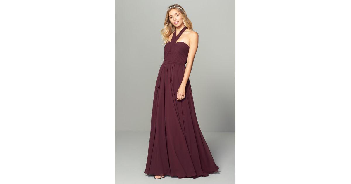 c9fb8bc1717f Lyst - Jenny Yoo Mira Convertible Strapless Chiffon Gown in Purple