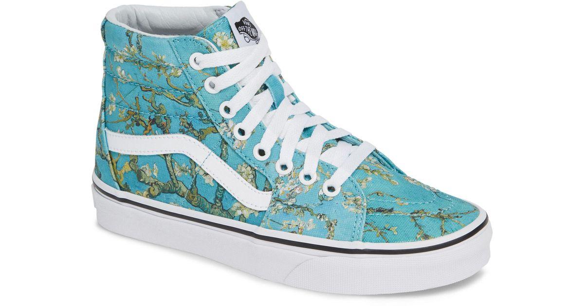 2a7ce95cb8e584 Lyst - Vans X Van Gogh Museum Collection Ua Sk8-hi Sneaker in Blue