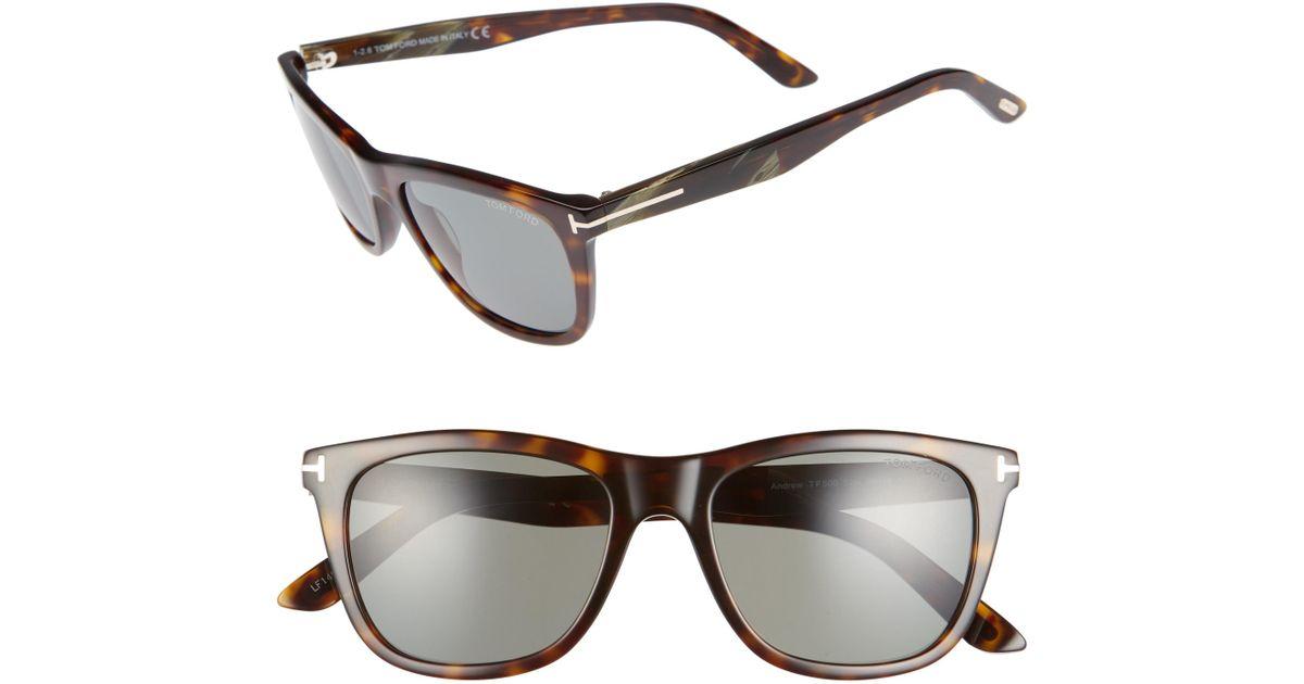 5421c0e53ed7a Lyst - Tom Ford Andrew 54mm Polarized Sunglasses - Dark Havana  Green in  Green for Men