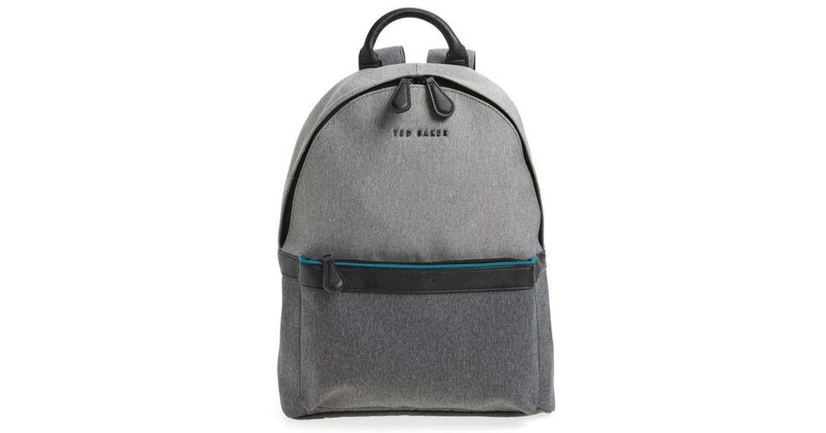 lyst ted baker zirabi backpack in gray. Black Bedroom Furniture Sets. Home Design Ideas