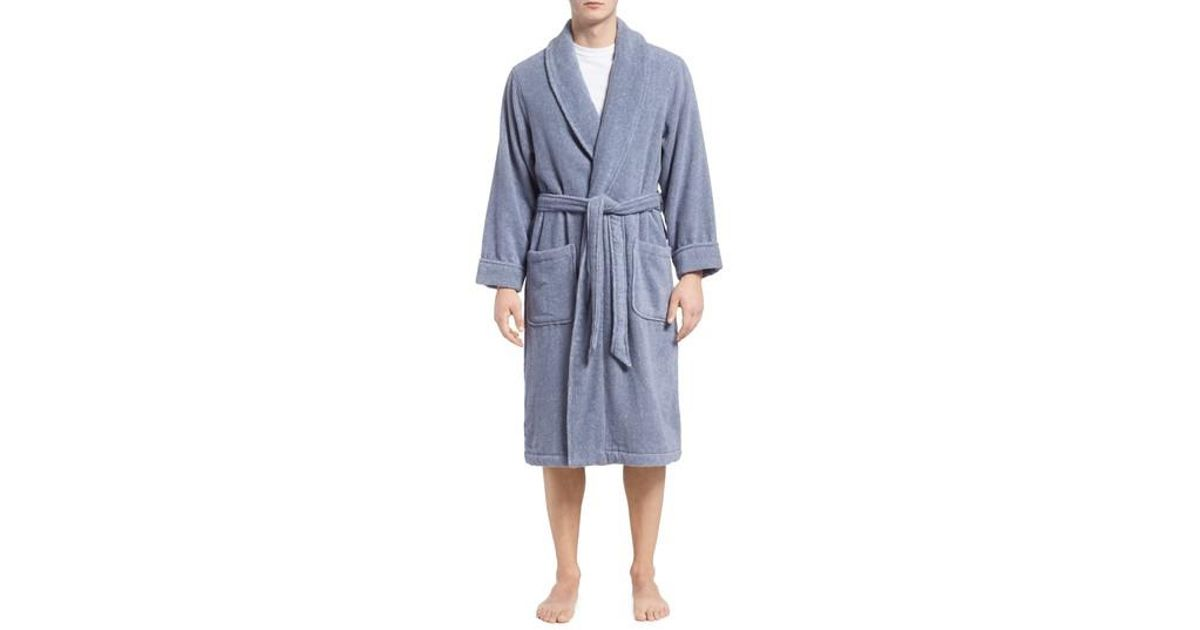 Lyst - Nordstrom Hydro Cotton Terry Robe in Blue for Men f3acbed8f