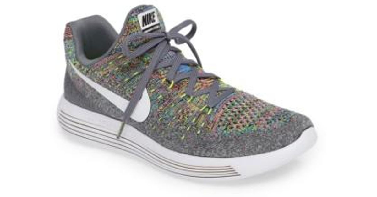 check out 3b9cb 5af9c closeout lyst nike lunarepic low flyknit 2 running shoe in blue 301b3 d4e3d