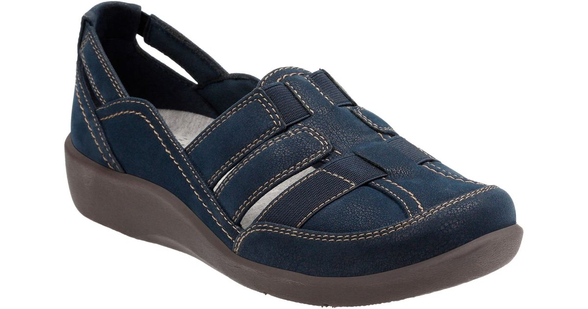 d1e385e031838 Lyst - Clarks Clarks Sillian Stork Flat in Blue - Save 18%