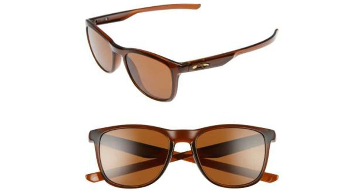 21f5727e7c Lyst - Oakley Trillbe X 52mm Sunglasses - Root Beer  Dark Bronze in Brown