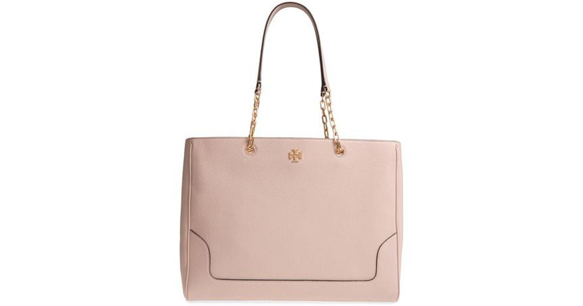 Lyst - Tory Burch Marsden Pebbled Leather Tote in Pink fda8b92d74