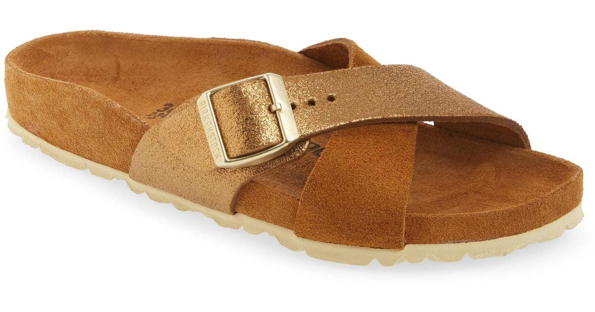 aecfca61ebd Lyst - Birkenstock Siena Exquisite Slide Sandal