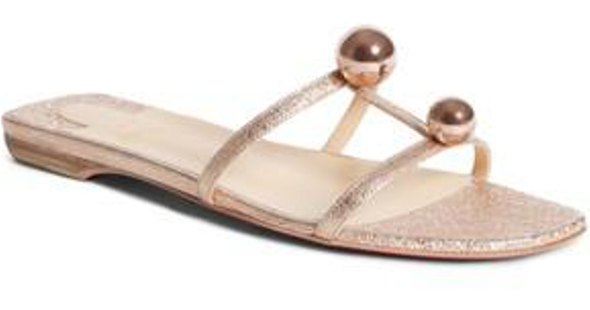 80b612f8dd14 Lyst - Christian Louboutin Atonetta Ornament Slide Sandal in Metallic