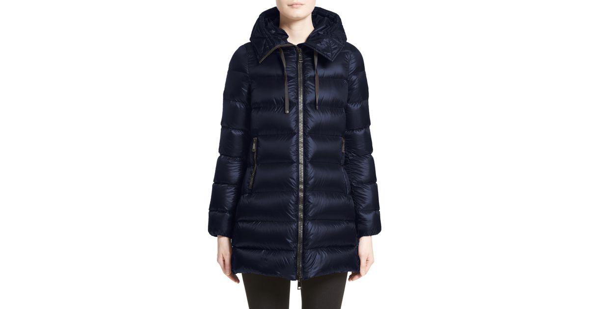 cf3c3397ef Moncler 'suyen' Water Resistant Hooded Down Puffer Coat in Blue - Lyst