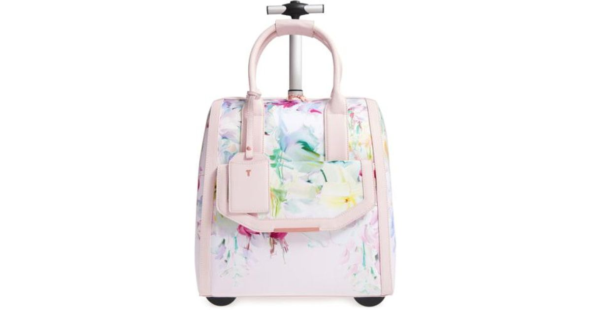 5ea6fccb7273eb Lyst - Ted Baker  hallema - Hanging Gardens  Travel Bag in Pink