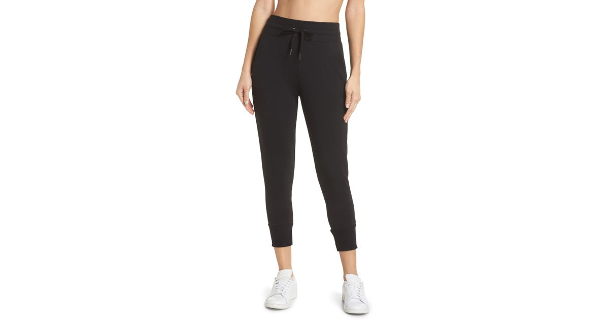 088f38224193 Zella Repeat High Waist Crop Jogger Pants in Black - Lyst