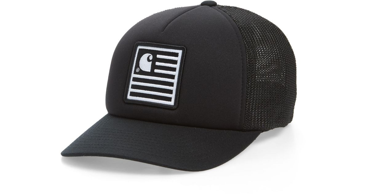 7200369d Carhartt WIP State Patch Trucker Hat in Black for Men - Save 29% - Lyst