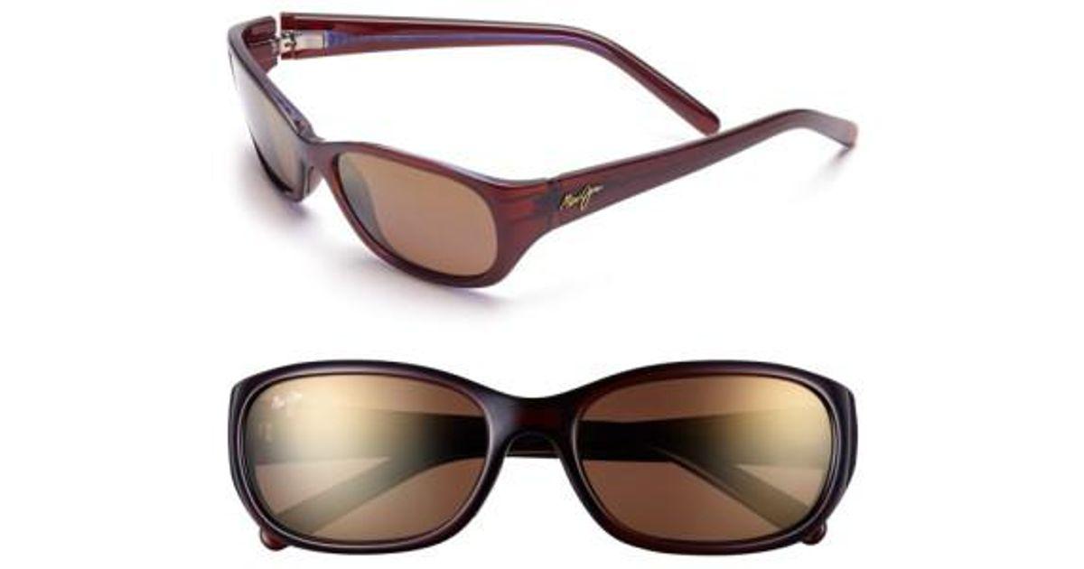 cc9128bc1f8 Lyst - Maui Jim Kuiaha Bay 55mm Polarizedplus Sport Sunglasses - Rootbeer  Blue in Brown