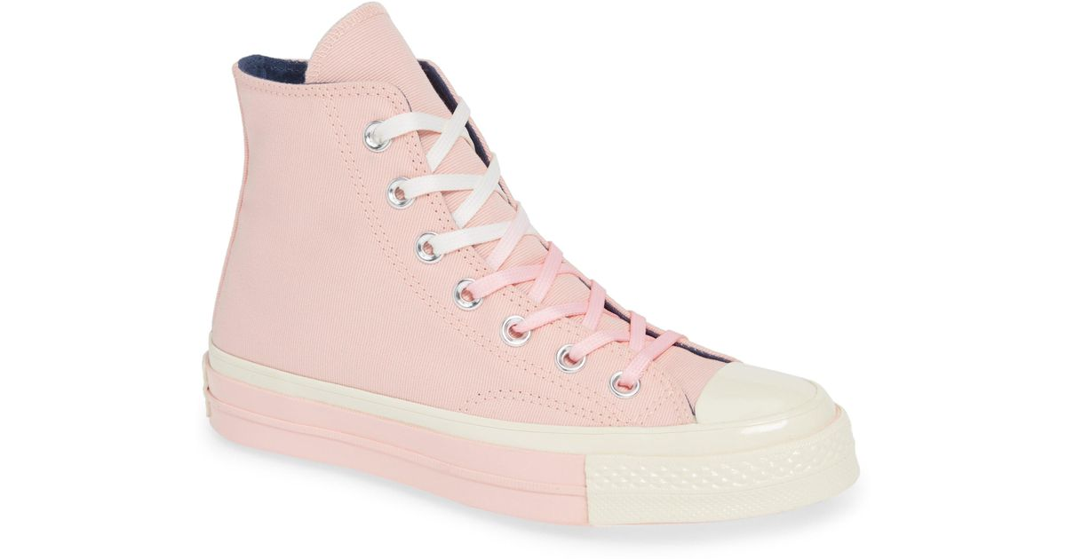 645bab7b631f Lyst - Converse Chuck Taylor(r) All Star(r) 70 Colorblock High Top Sneaker  (women) in Pink