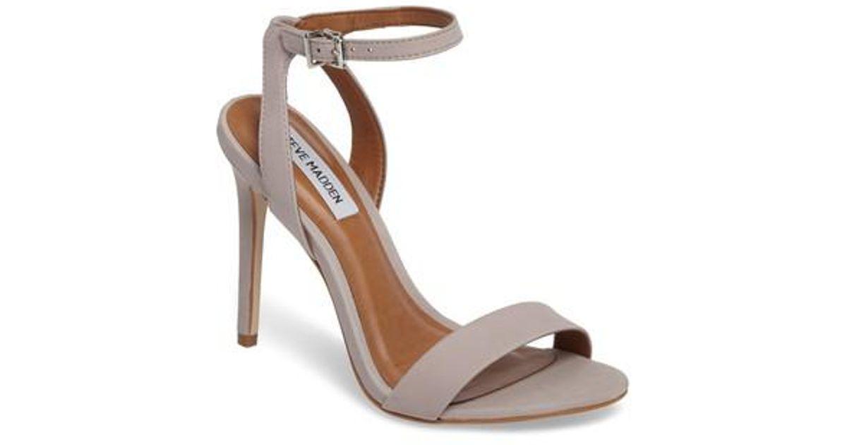 517b275e9bb Lyst - Steve Madden Landen Ankle Strap Sandal in Gray