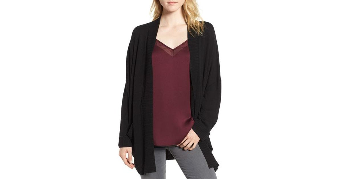 512800e2503 Lyst - Chelsea28 Oversize Open Cardigan in Black - Save 67.9245283018868%