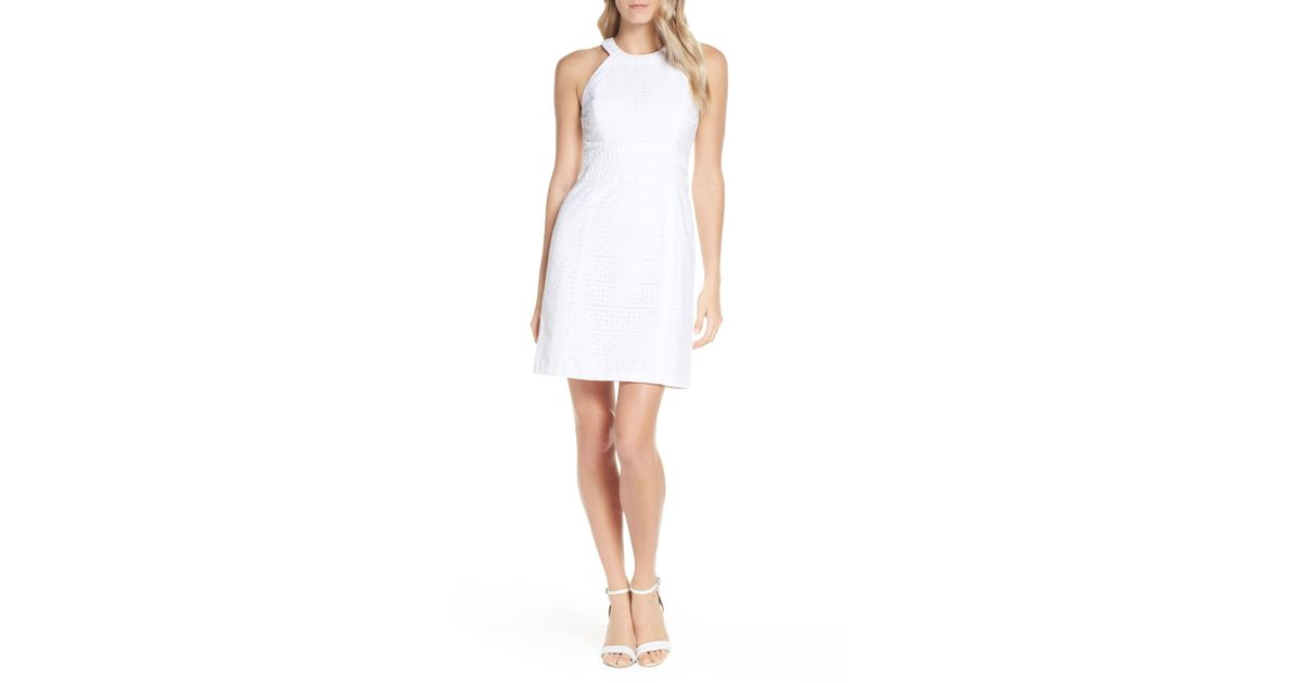 9c28ea8178de52 Lyst - Lilly Pulitzer Lilly Pulitzer Ashlyn Lace Shift Dress in White