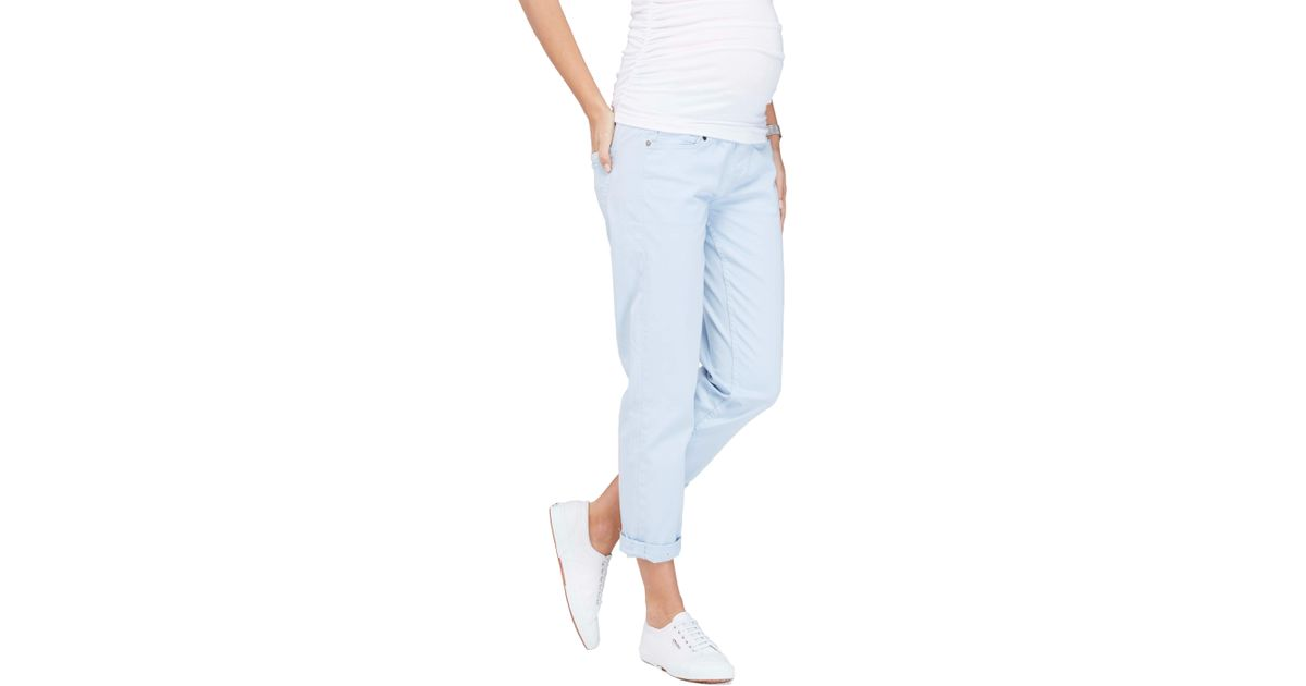 20e9f399c84ba Lyst - Isabella Oliver Relaxed Boyfriend Maternity Jeans in Blue