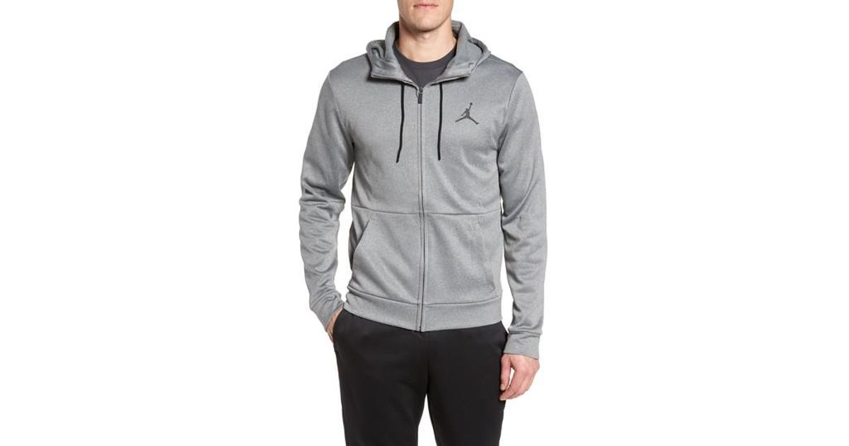ba6a28b921e447 Lyst - Nike 23 Alpha Therma Fz Hoodie in Gray for Men