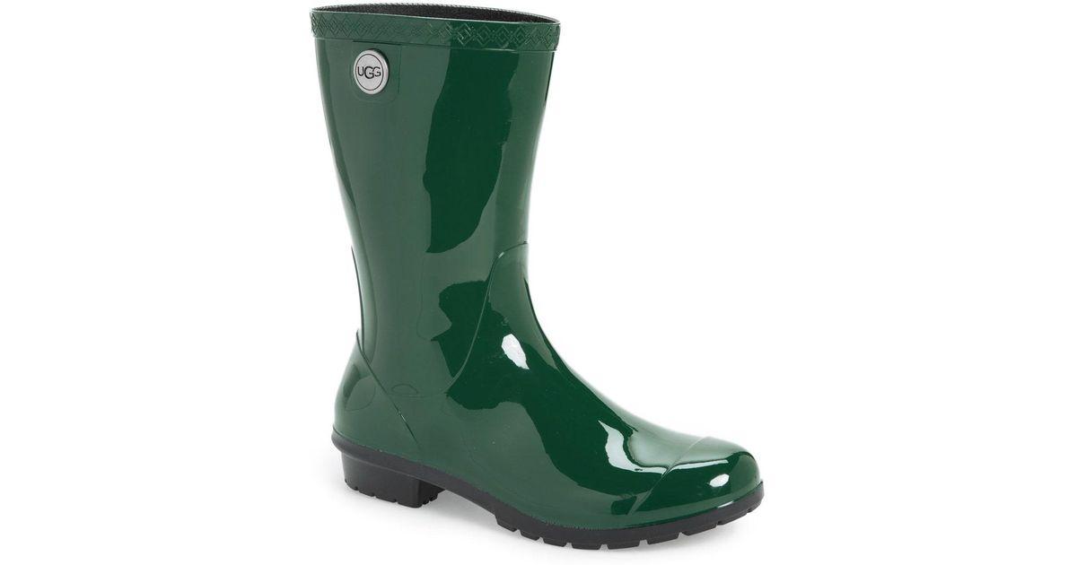 7e27900b238 Ugg - Green Ugg Sienna Rain Boot - Lyst