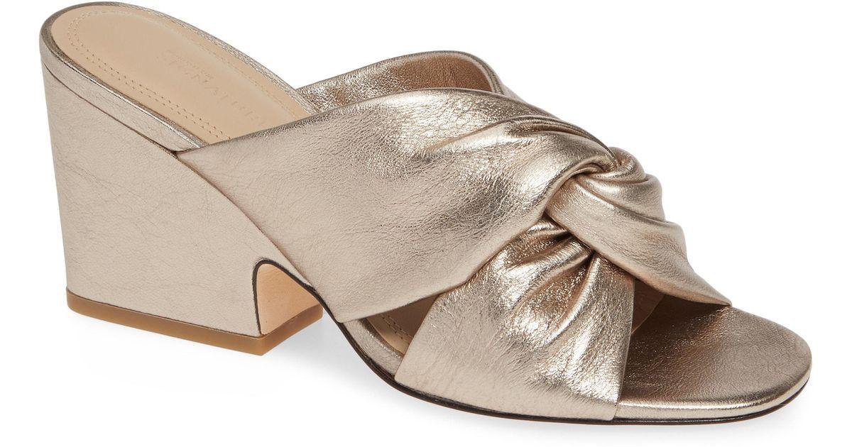 c12568687208 Lyst - Nordstrom Alma Knot Slide Sandal