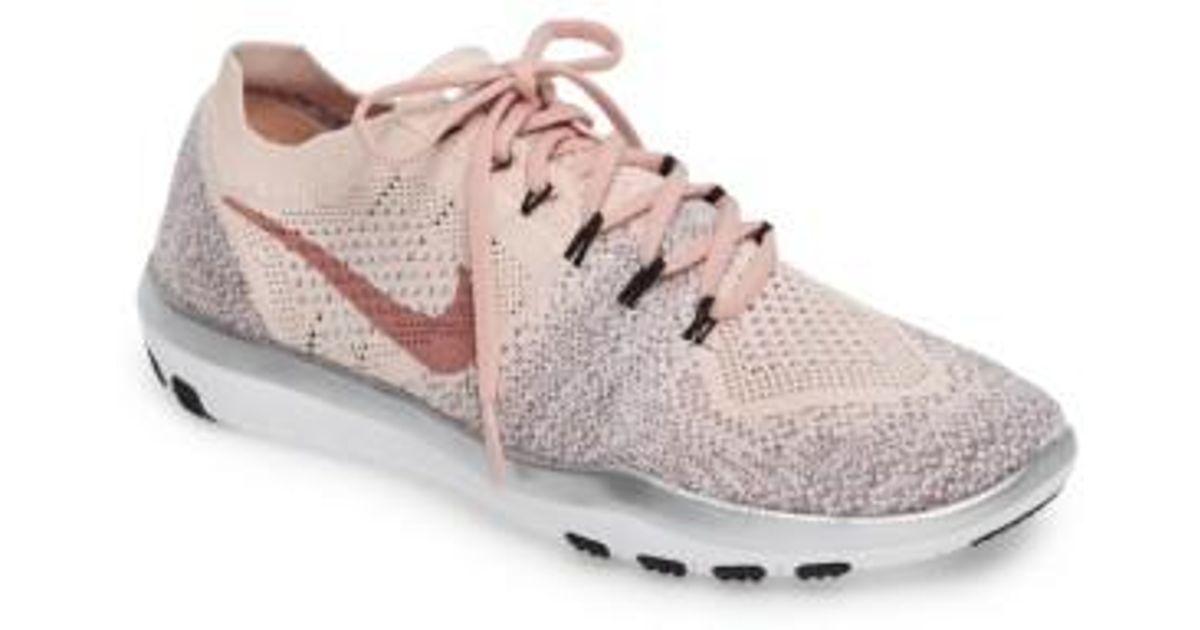 b3c18fa48f9f Lyst - Nike Free Focus Flyknit 2 Bionic Training Sneakers in Pink