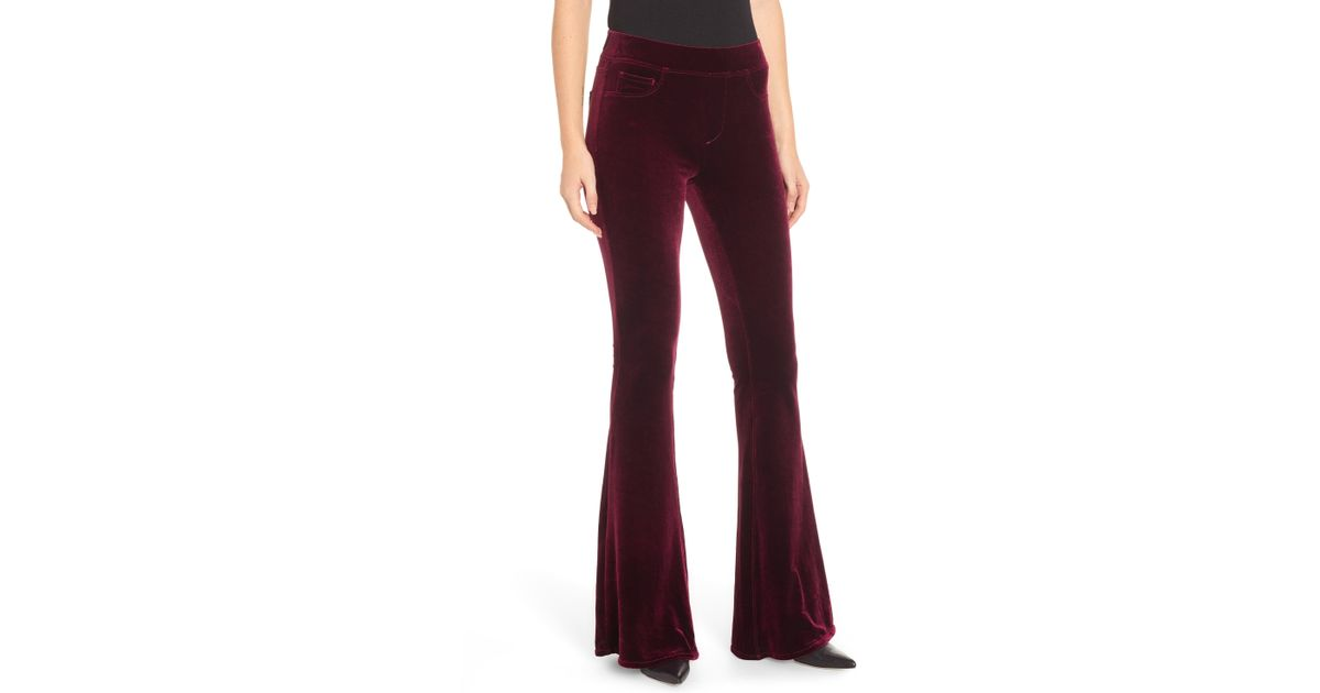 ad3037076d5aa Lyst - Blank NYC Velvet Flare Pants in Red
