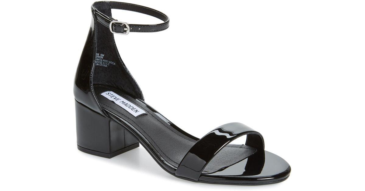 673850e74fe Lyst - Steve Madden Irenee Ankle Strap Sandal in Black
