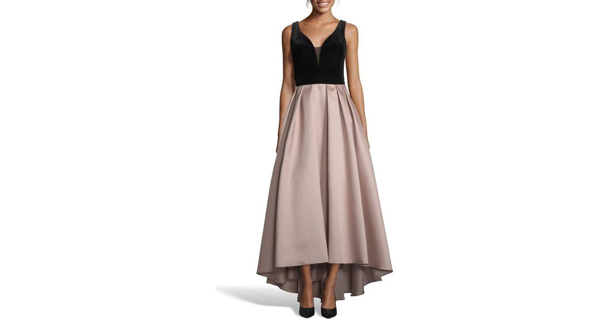 e3f0d26d89097 Lyst - Xscape Mikado Velvet Bodice Ball Gown