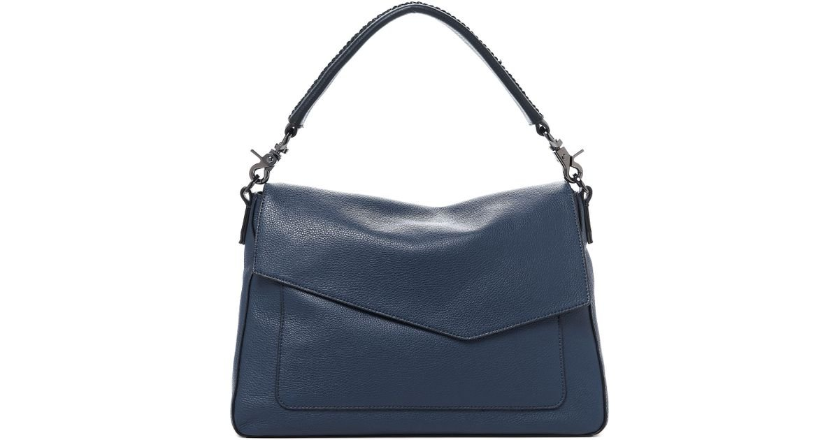 474d08a61cb0 Lyst - Botkier Cobble Hill Slouch Calfskin Leather Hobo - in Blue - Save  50.0%