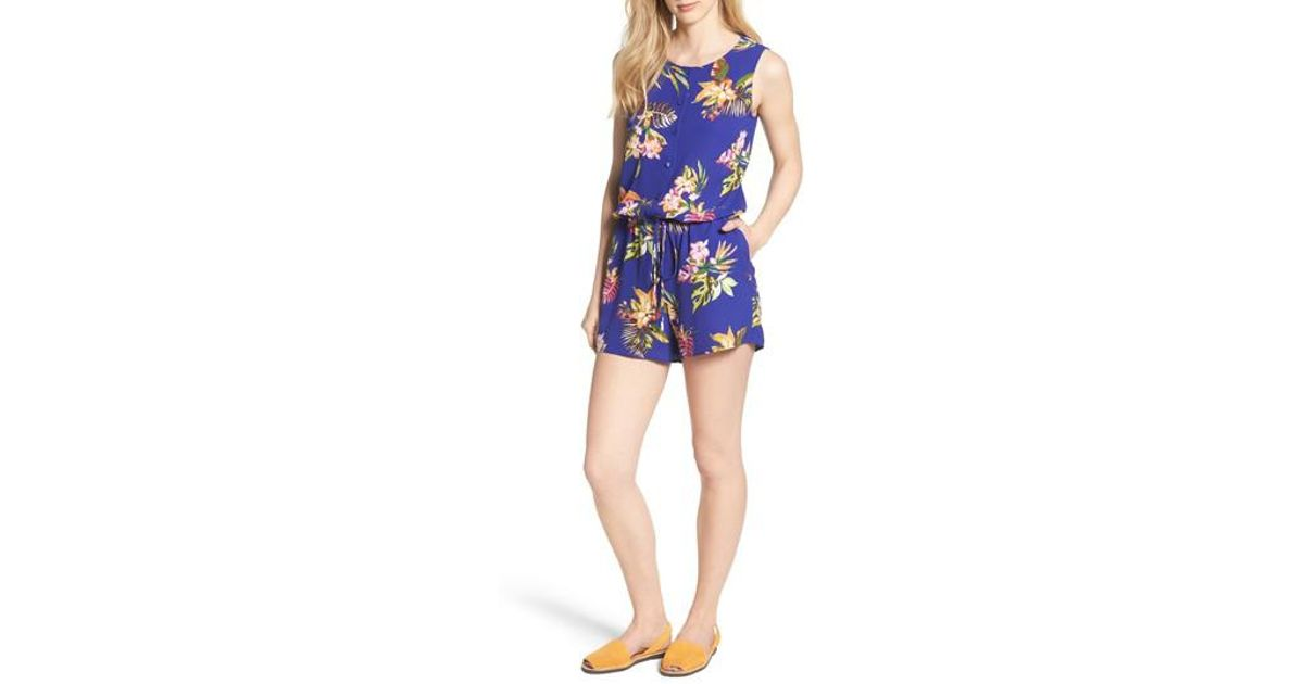 Lyst - Gibson X Hi Sugarplum! Captiva Romper (regular   Petite ... bbeef044d