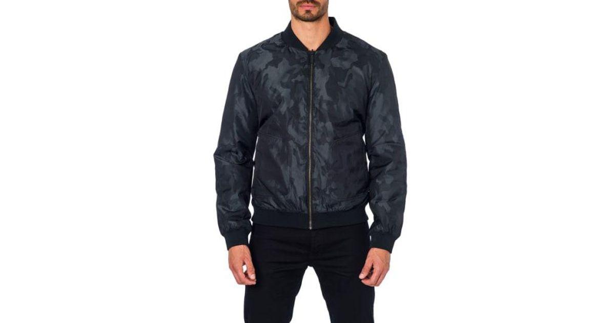 38454d86 Jared Lang New York 1a Reversible Bomber Jacket Black in Black for Men -  Lyst