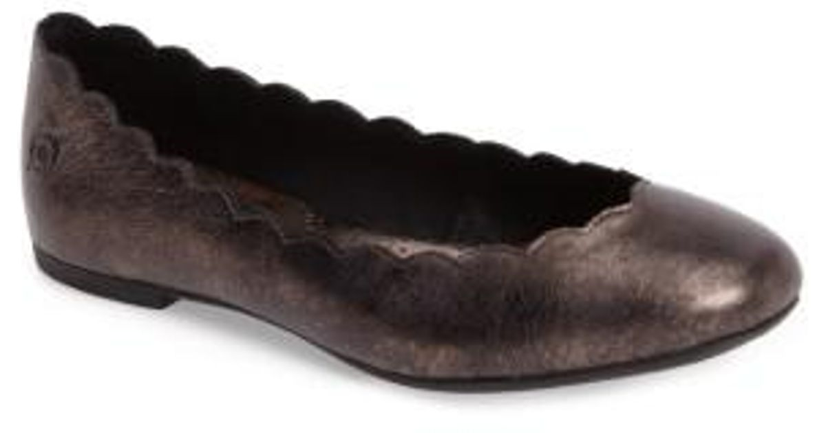 Born Allie Scalloped Ballet Suede Flat