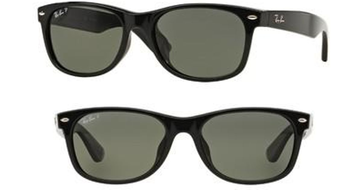 43425ae40e Lyst - Ray-Ban New Wayfarer Classic 58mm Polarized Sunglasses in Black for  Men