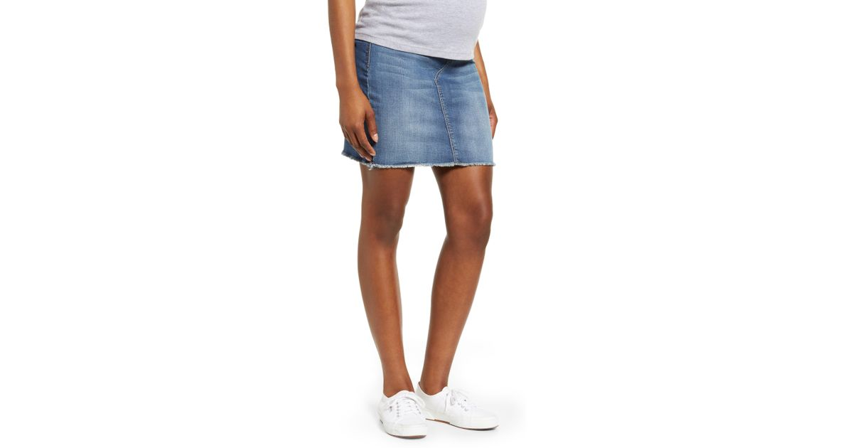 763f4f148242c Lyst - 1822 Denim Maternity Denim Miniskirt in Blue