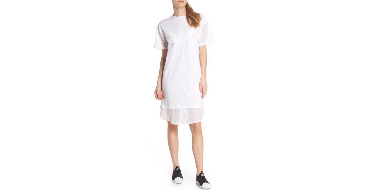 36660cba554 Lyst - adidas Clrdo T-shirt Dress in White