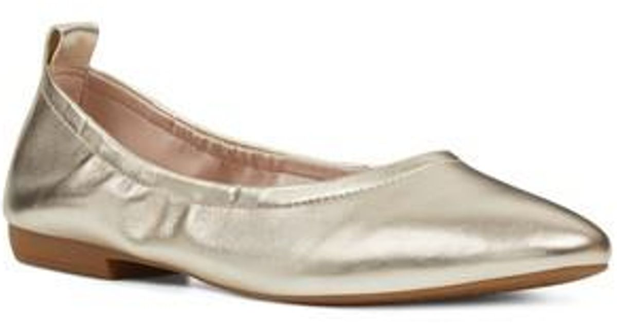 Nine West Greige Ballet Flats Women's Shoes