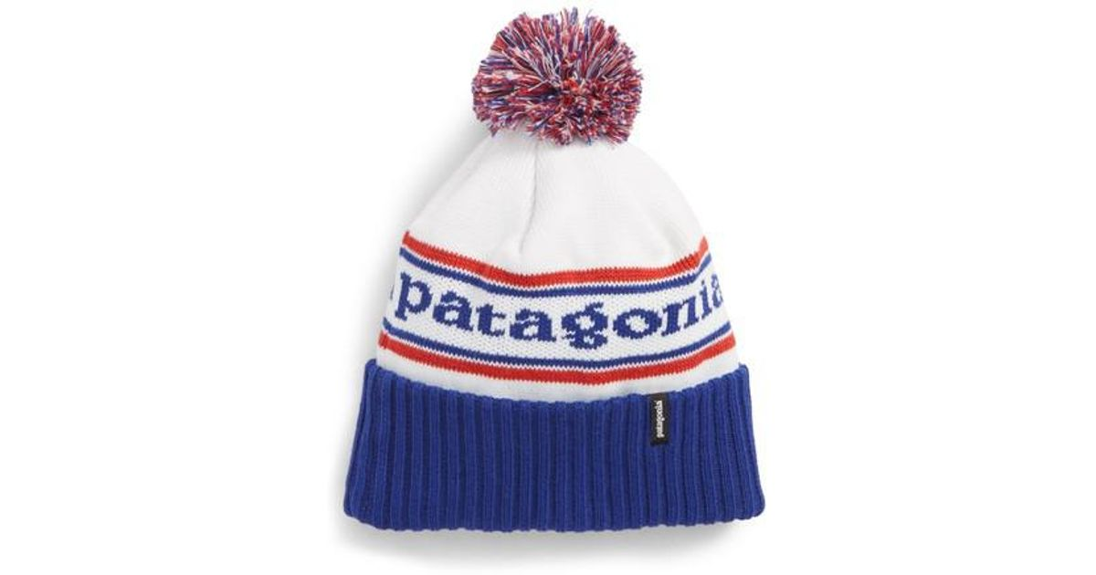 d9cf6c2e83f34 Lyst - Patagonia  powder Down  Beanie in Blue