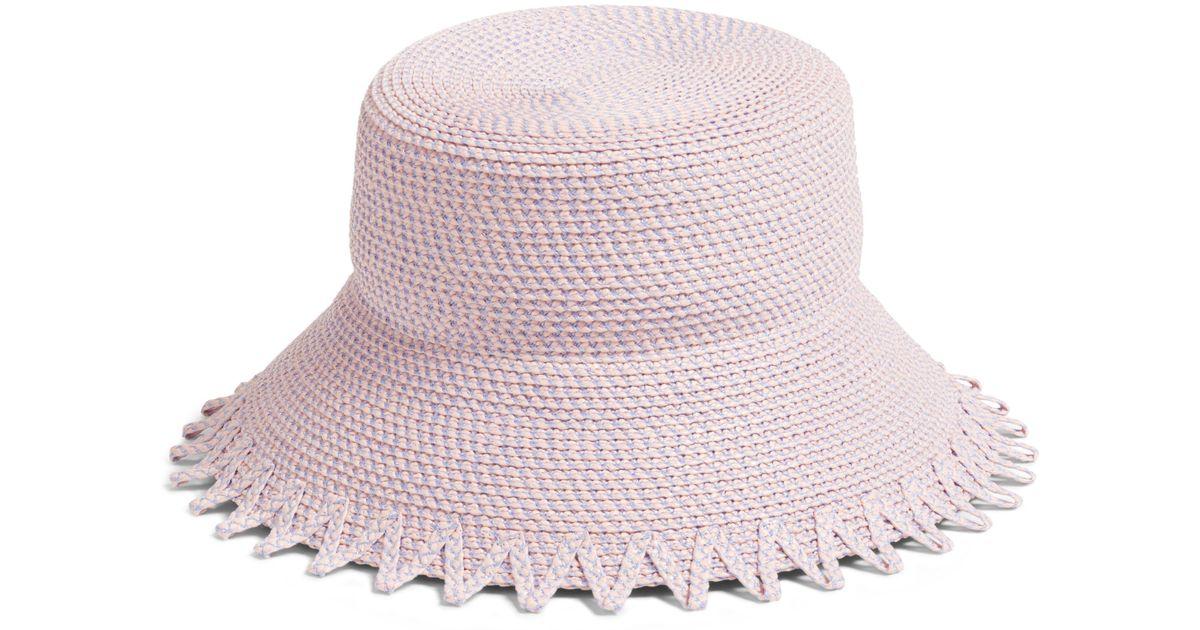 e0349160dae Lyst - Eric Javits Eloise Squishee Bucket Hat -