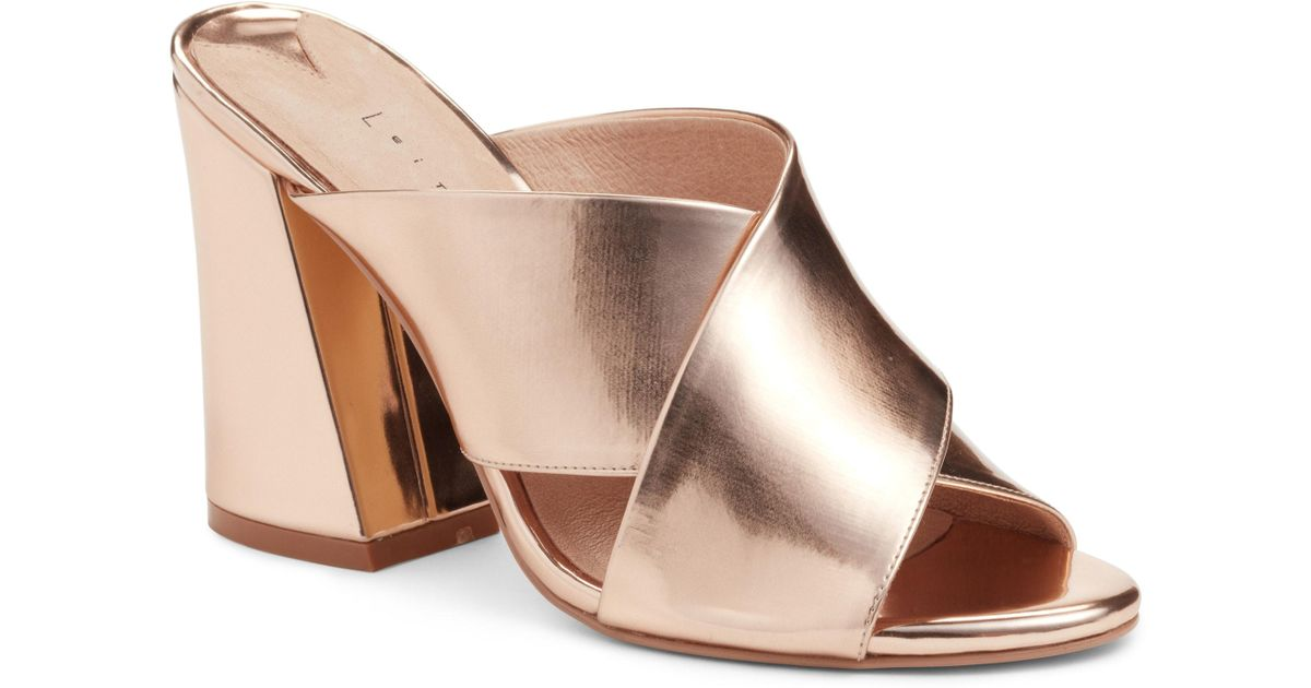 5e5254cf767 Lyst - Leith Cammie Block Heel Sandal