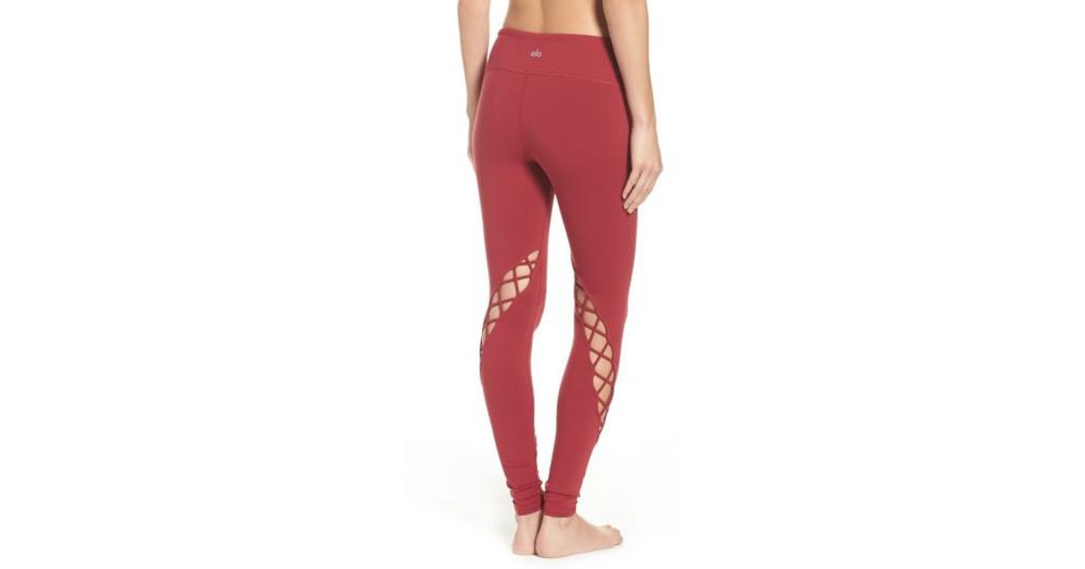 52bdc29fe4050 Alo Yoga Entwine Legging in Red - Save 55% - Lyst