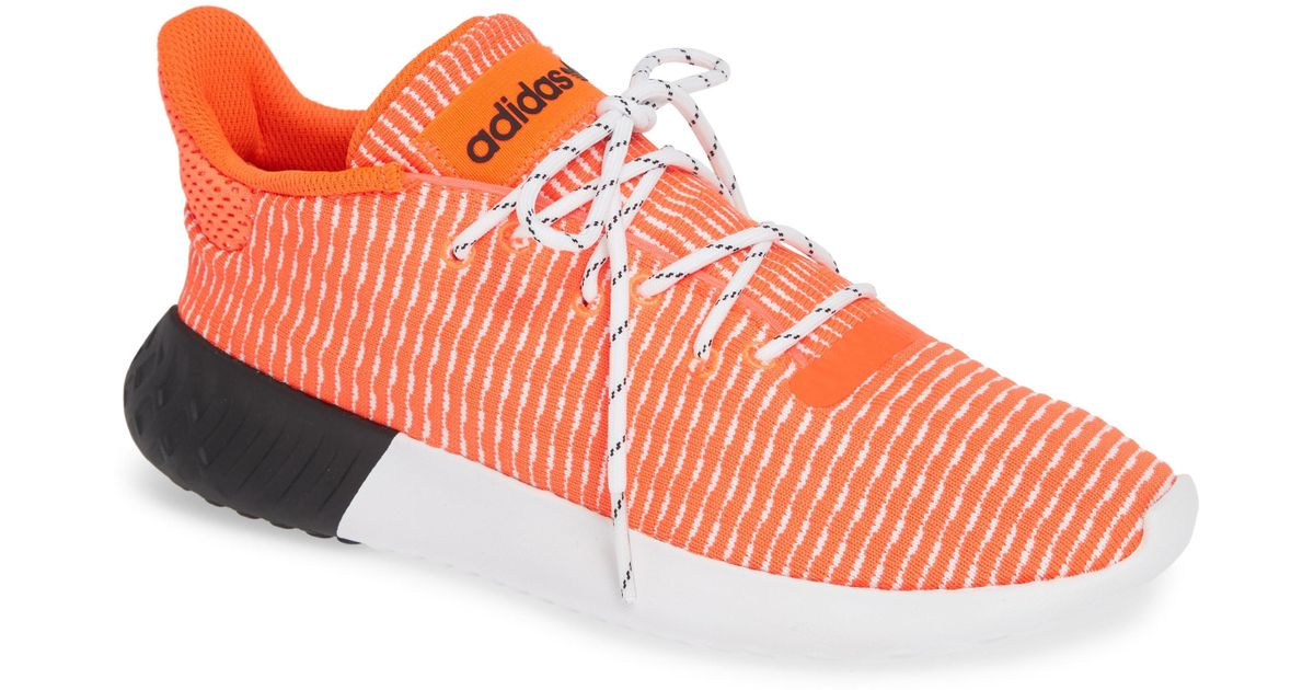 e808777baed Lyst - Adidas Tubular Dusk Primeknit Sneaker in Red for Men