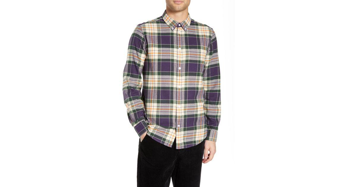 4532d45488c Lyst - Wesc Ovavi Plaid Flannel Shirt for Men